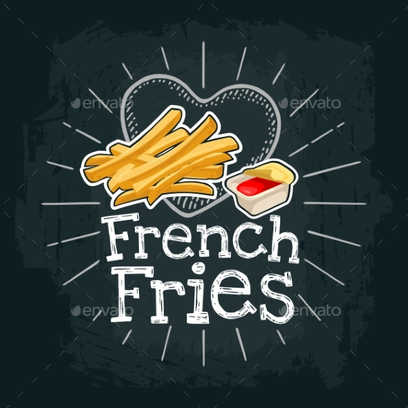 French Fry Stick Potato - Food Objects
