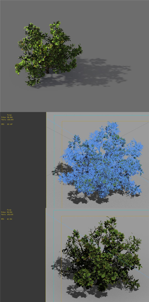 Game Model - Forest - Shrub 13 - 3DOcean Item for Sale