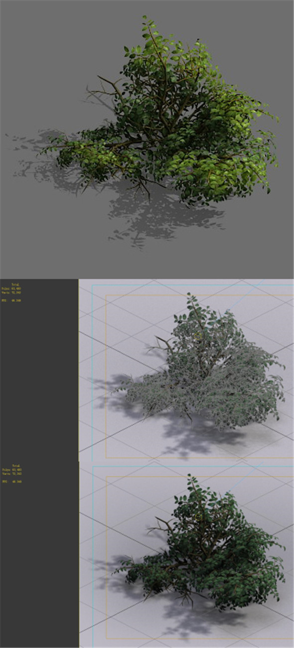 Game Model - Forest - Shrub 15 - 3DOcean Item for Sale