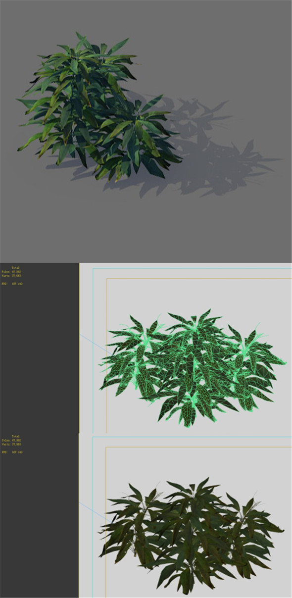 Game Model - Forest - Shrub 16 - 3DOcean Item for Sale