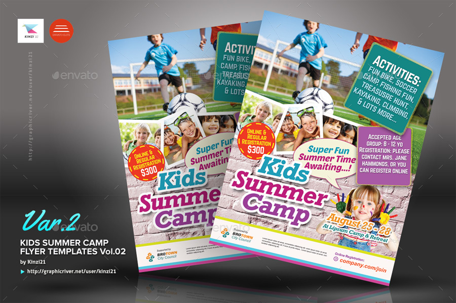 summer camp flyer design