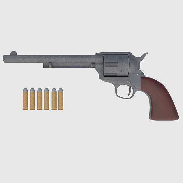 Colt 45 Revolver - Game Ready - 3DOcean Item for Sale