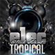 Electro Tropical Flyer - GraphicRiver Item for Sale