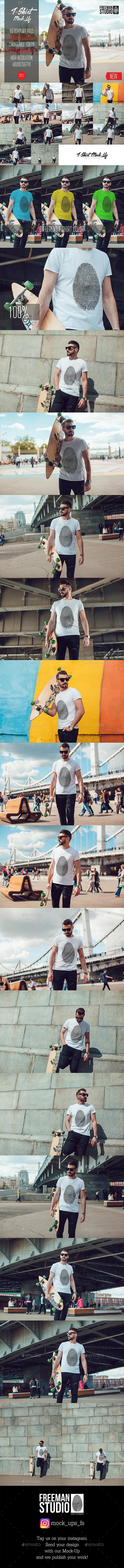 Men's T-Shirt Mock-Up Vol.3 2017 - T-shirts Apparel