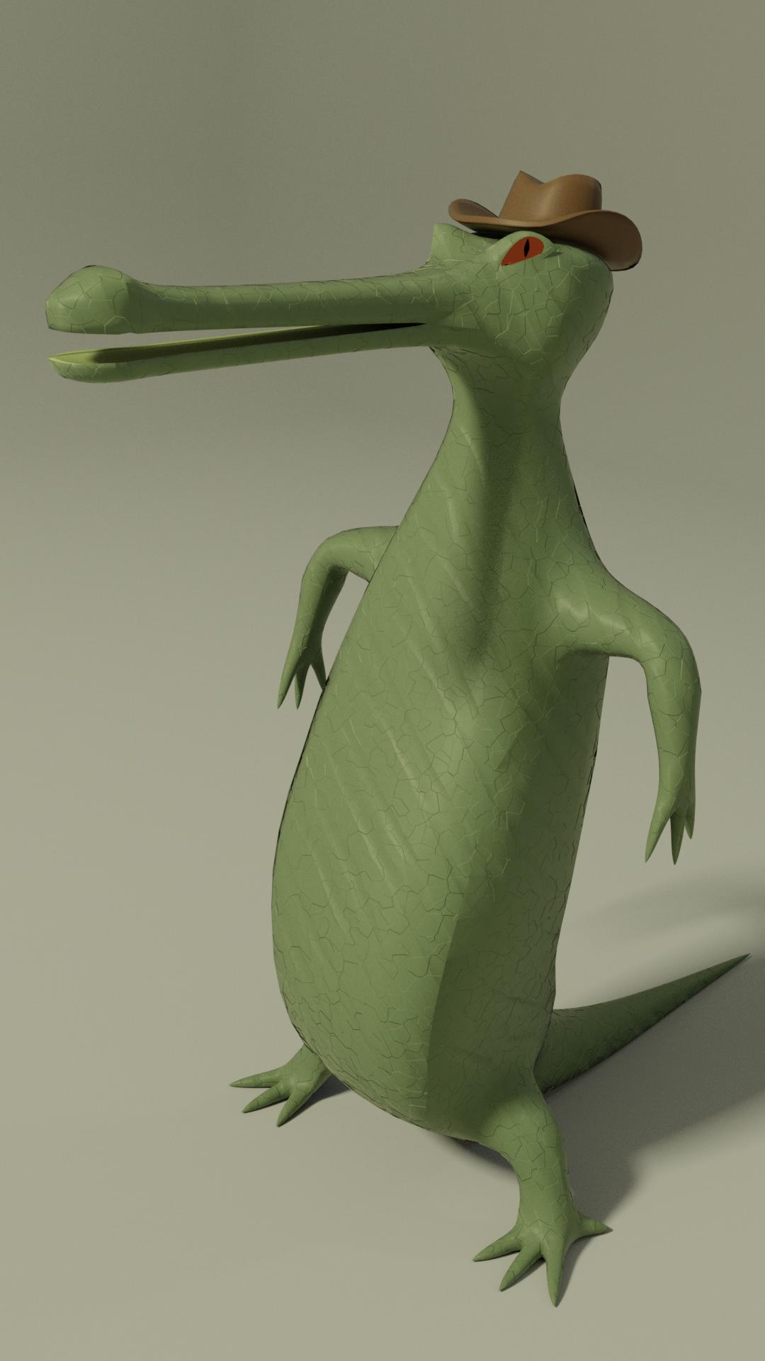 Bold gavial