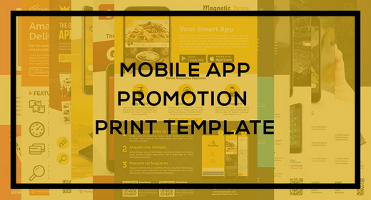 Mobile App Promotion Print Template