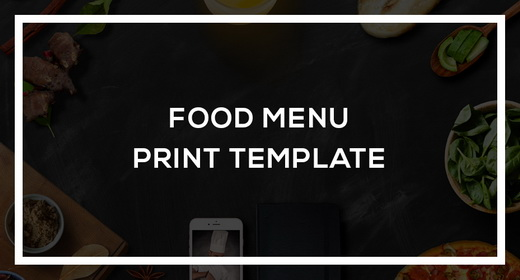 Food Menu Print Template