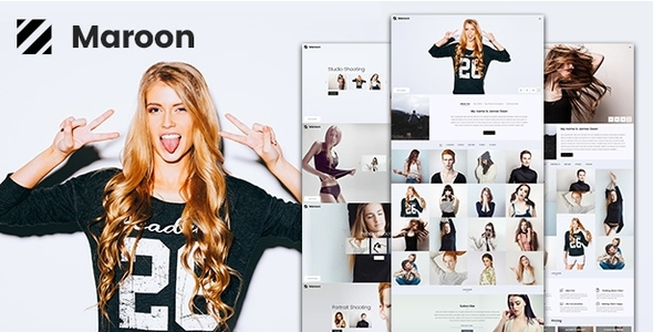 Maroon | Photography & Portfolio WordPress Theme