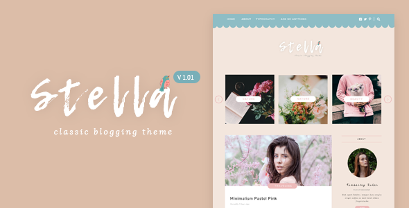 ThemeForest Stella Classic & Sweet Blogging Theme 20140343