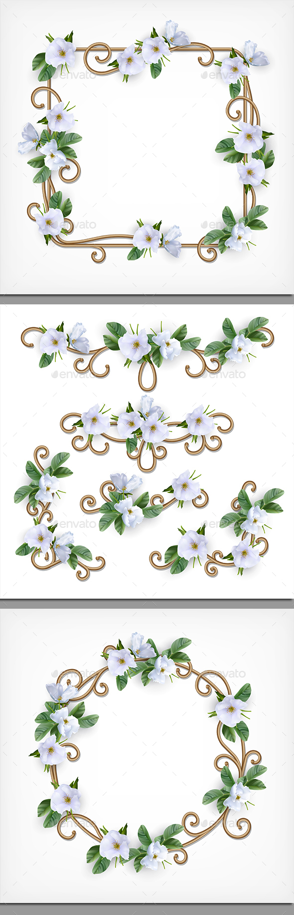Decorative Frame Set - Borders Decorative