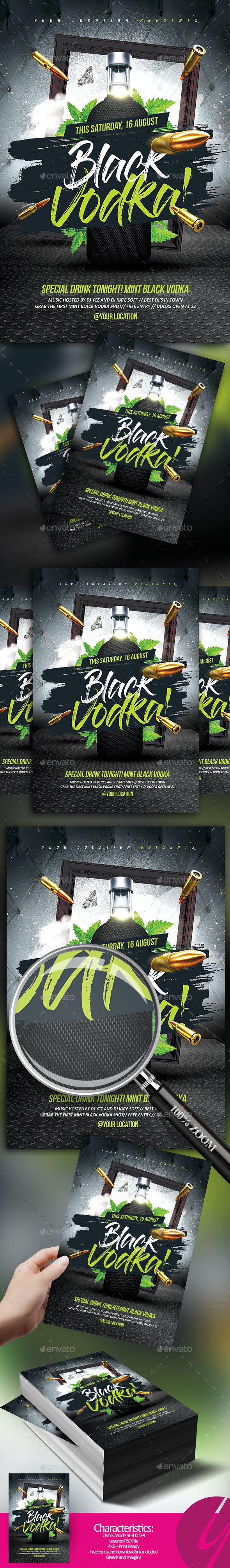 Black Mint Vodka - Clubs & Parties Events