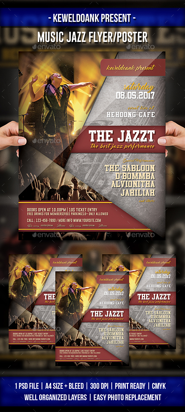 Music Jazz Flyer / Poster - Events Flyers