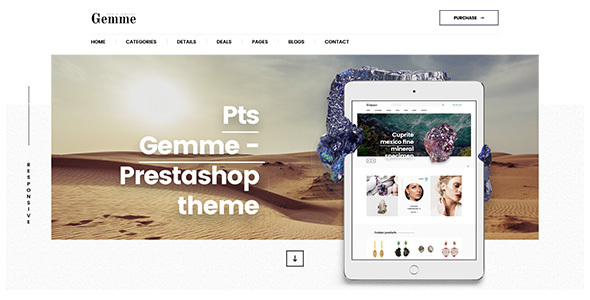 Image of Pts Gemme - Creative Gem & Jewelry Manufacturer Prestashop Theme 1.7