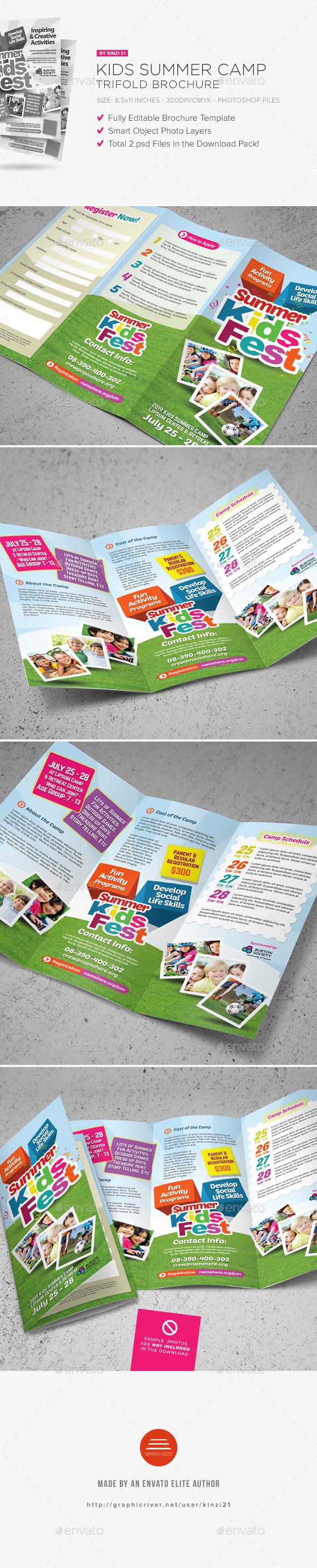 Kids Summer Camp Trifold Brochure