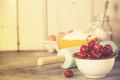 Mixed berries, baking ingredients and utensils - PhotoDune Item for Sale
