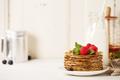 Milk and pancakes - PhotoDune Item for Sale