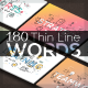 180 Thin Line Conceptual Words - GraphicRiver Item for Sale
