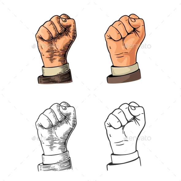 Human Hand with a Clenched Fist - People Characters
