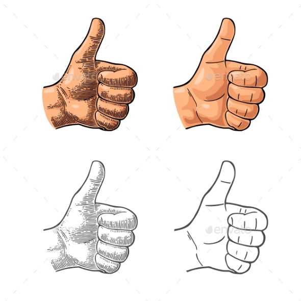 Hand Showing a Like Symbol - People Characters