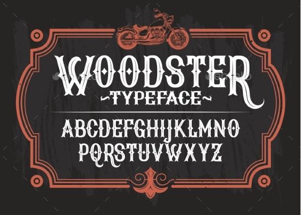 Illustration of a Vintage Font - Miscellaneous Vectors