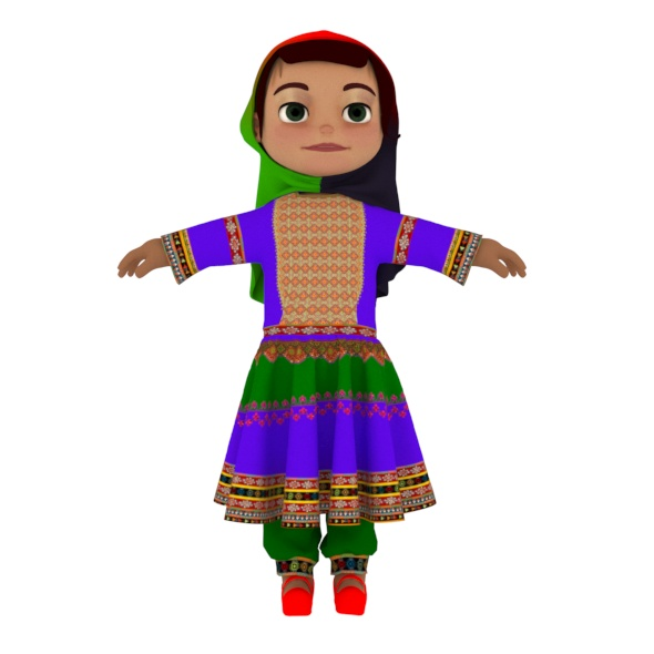 Afghan Girl_3D Model - 3DOcean Item for Sale