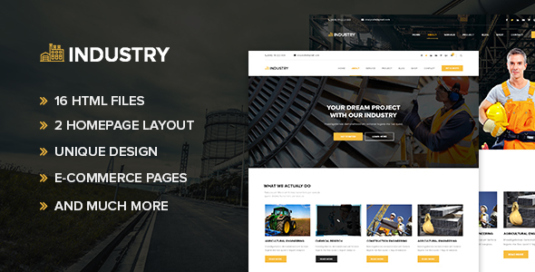 Industry - Minimal factory & industry HTML Template - Business Corporate