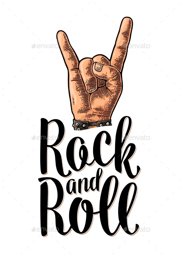 Rock and Roll Sign - Miscellaneous Vectors