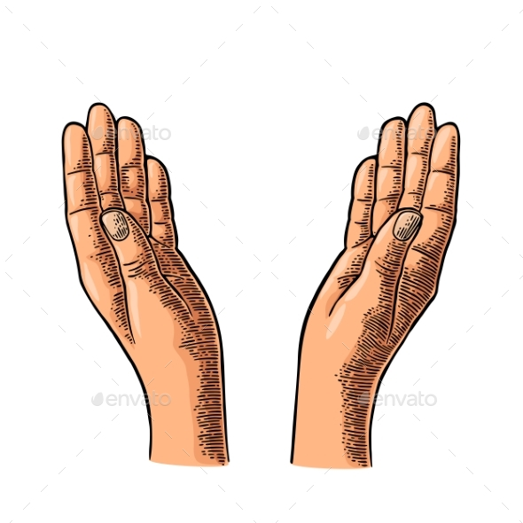 Two Praying Hands - Miscellaneous Vectors