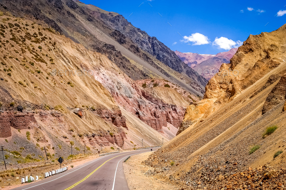 Road through Andes - Stock Photo - Images