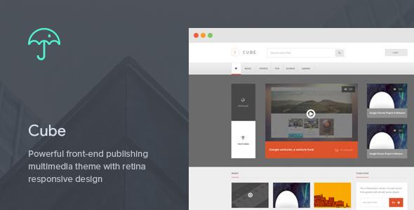 Cube: Front-end Multimedia Publishing WP Theme - Blog / Magazine WordPress