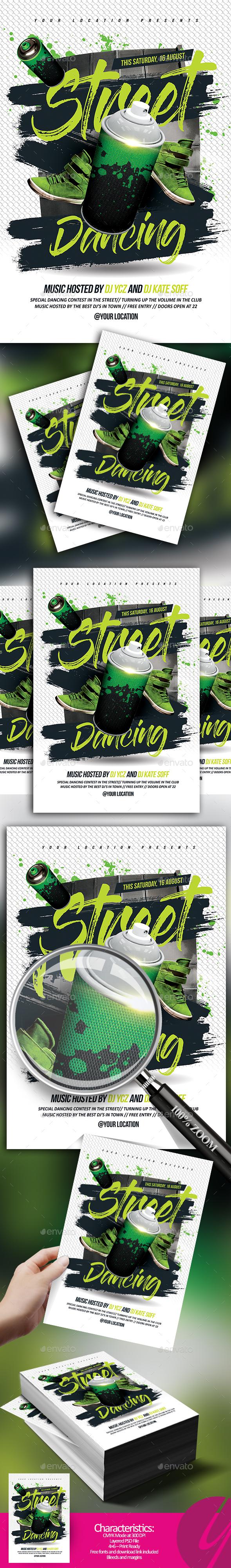 Street Dancing Flyer - Clubs & Parties Events