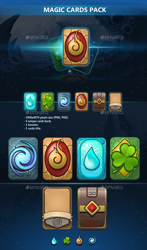 Magic Cards Pack - Miscellaneous Game Assets