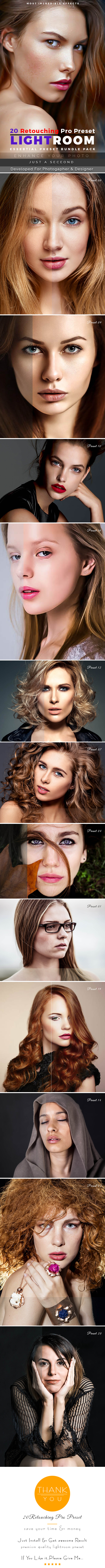 20 Retouching Pro Preset - Lightroom Presets Add-ons