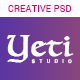 Yeti - Creative Portfolio PSD Template - ThemeForest Item for Sale