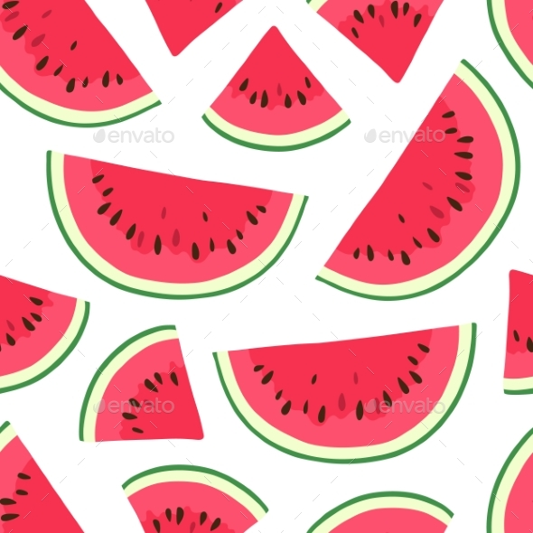 Seamless Pattern with Watermelon. - Patterns Decorative