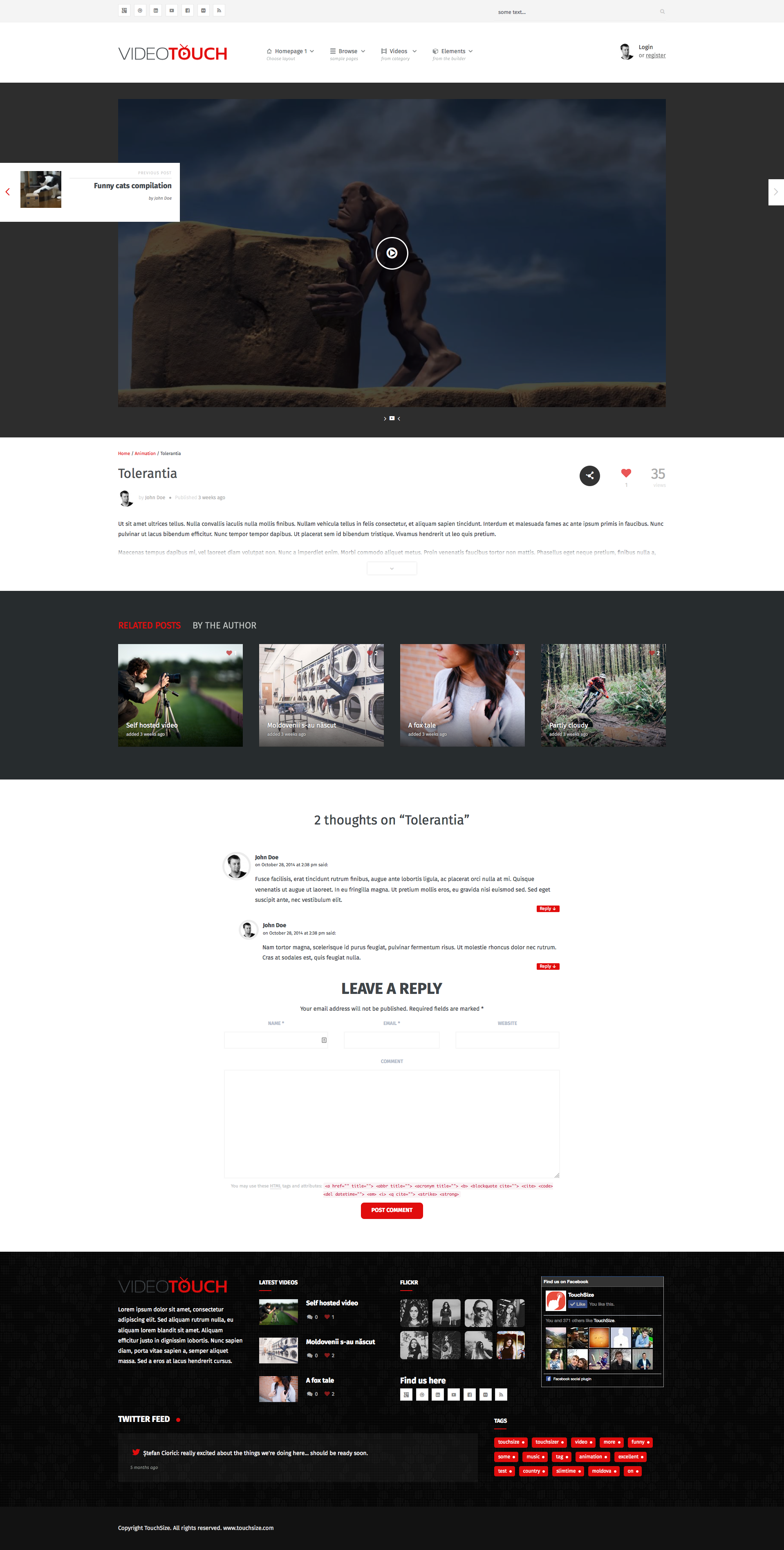 Videotouch Video Wordpress Theme By Upcode Themeforest
