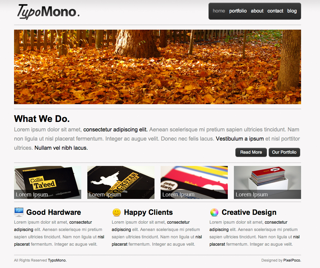 Free Download TypoMono - Clean HTML Template Nulled Latest Version