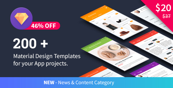 Material Design Templates nulled free download