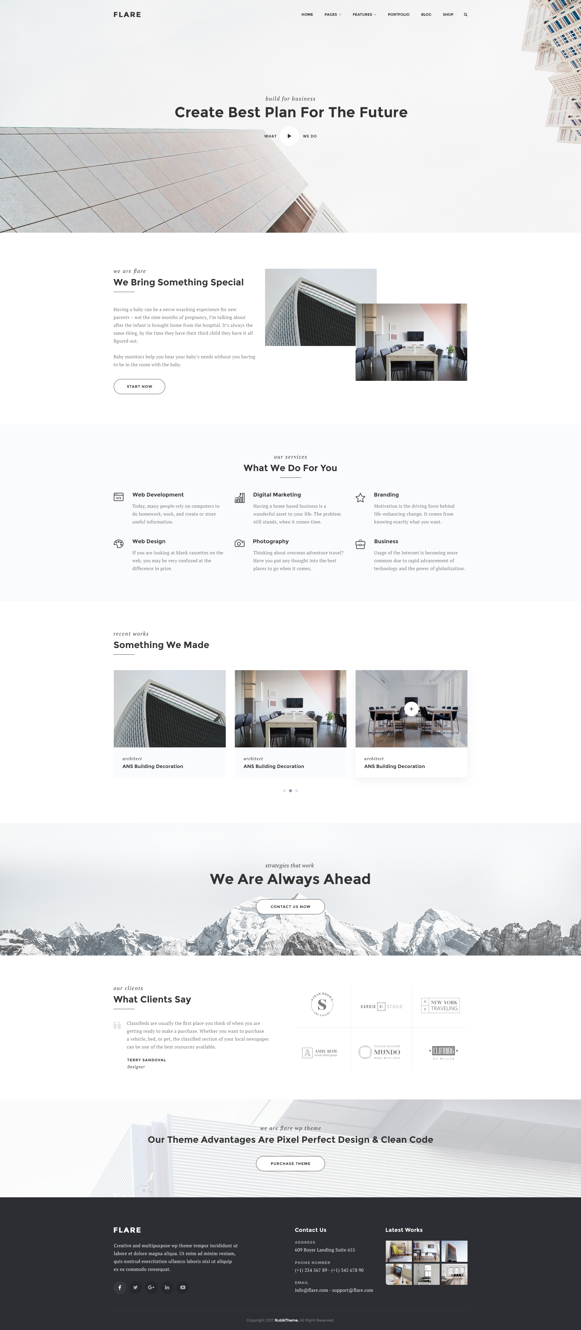 Flare - Multipurpose Business PSD Template by TheRubikTemplate ...