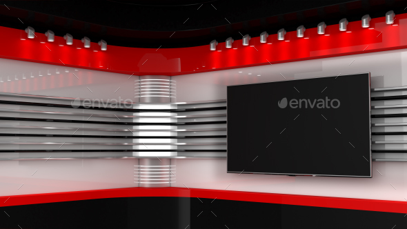 Red Studio. News Room - 3D Backgrounds