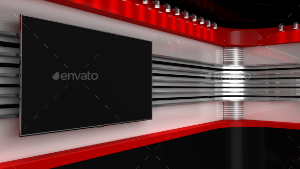 Red Studio. News Room - 3D Backgrounds