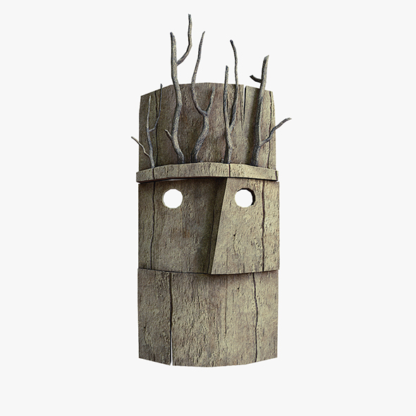 Wood mask with branches - 3DOcean Item for Sale