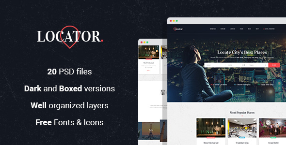 Locator - Listing Directory PSD Template
