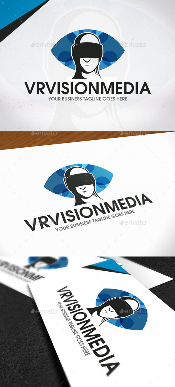 VR Vision Media Logo - Humans Logo Templates