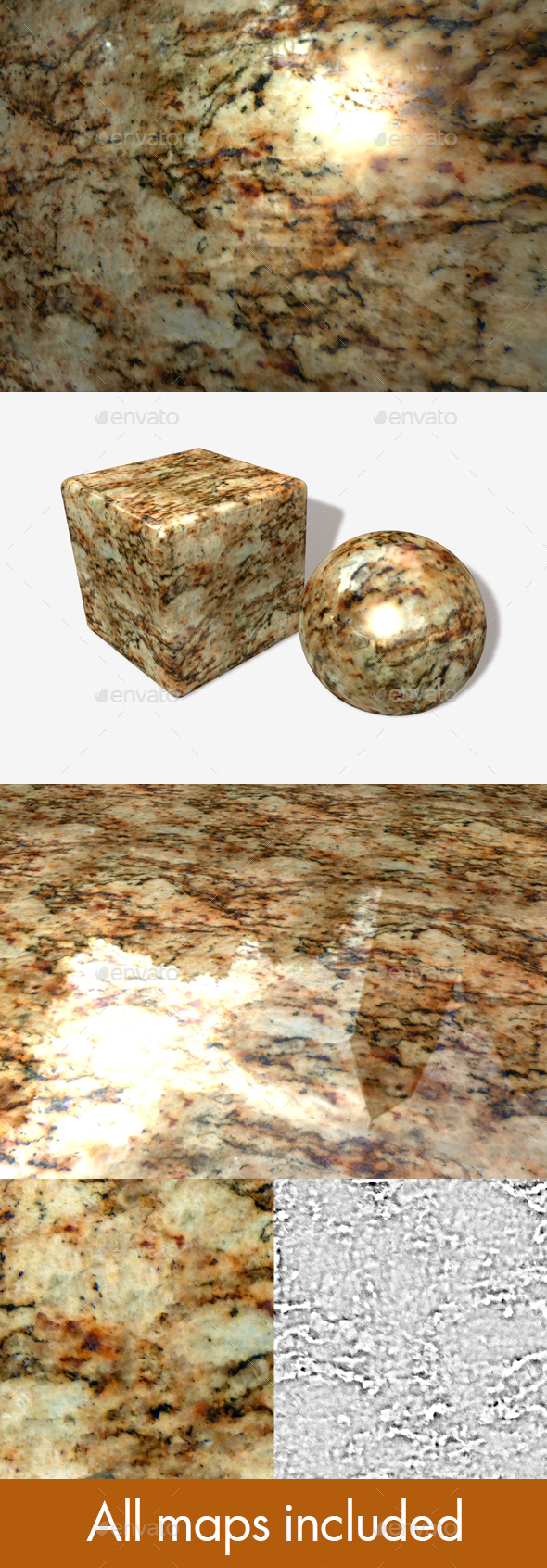 Orange Marble Seamless Texture - 3DOcean Item for Sale