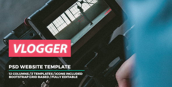 Vlogger - Video Website Template