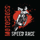 Motocross Speed Race Tshirt Design - GraphicRiver Item for Sale