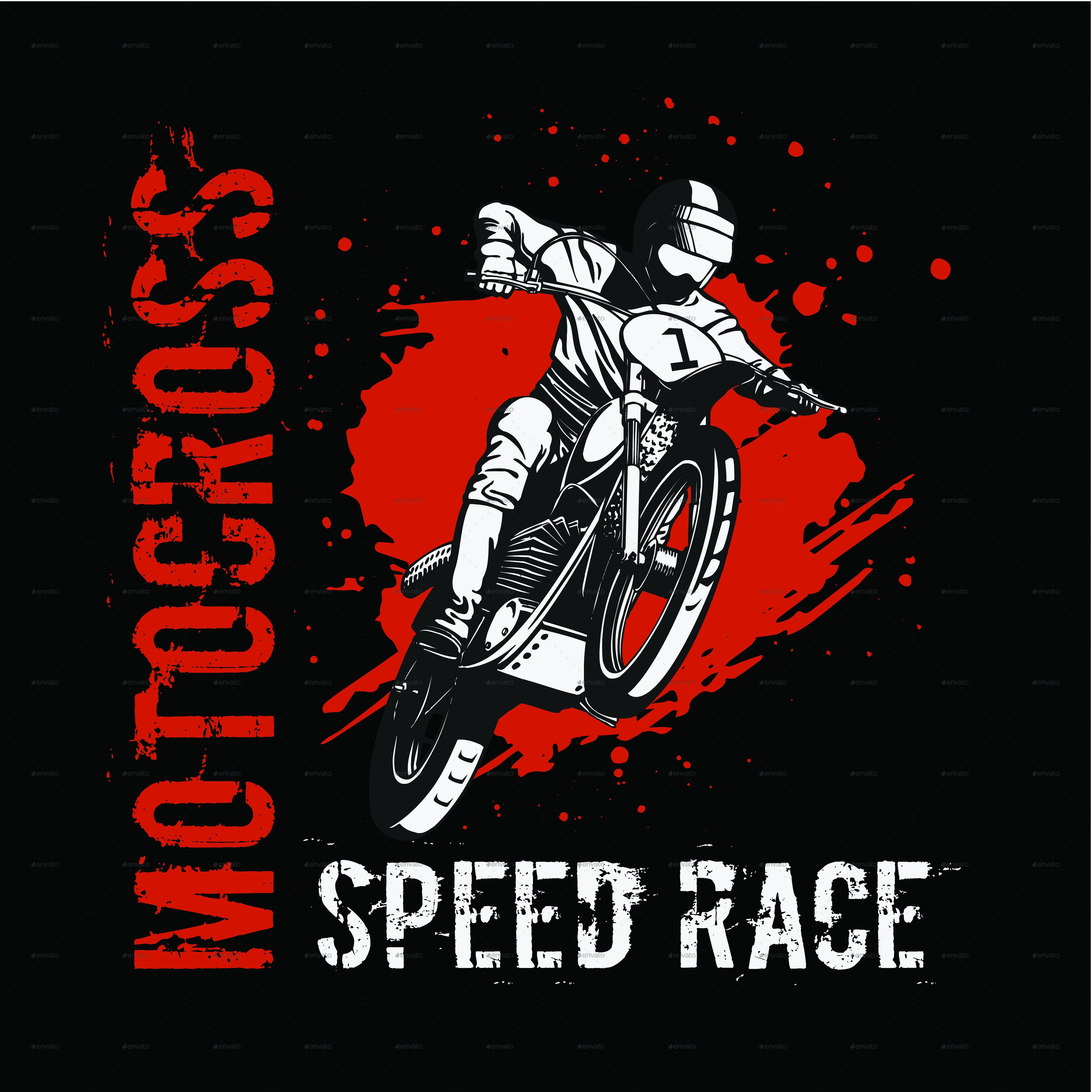 Design t shirt motocross - Motocross Speed Race Tshirt Design Sports Teams T Shirts Motocross_versi_black 01 Png