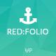Redfolio - a Responsive OnePage WordPress Theme Nulled