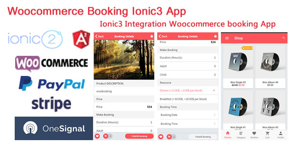 Ionic3 Integration with Woocommerce Booking App - CodeCanyon Item for Sale